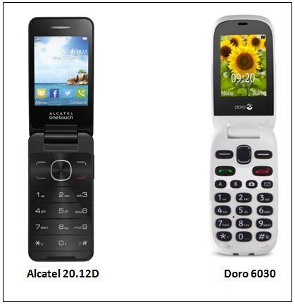 Téléphones à clapet