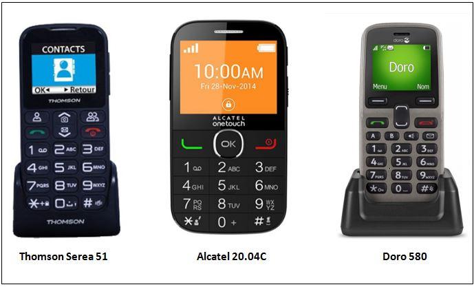 téléphones simples