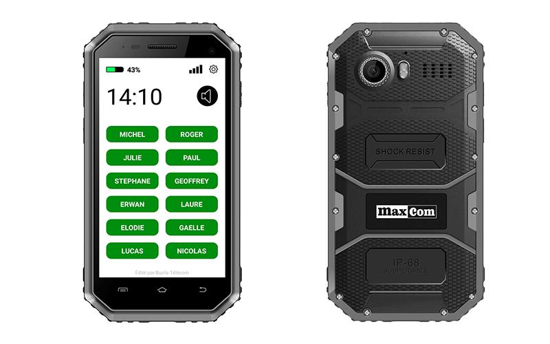 smartphone simple - Maxcom MS456 Strong Easy - téléphone simple