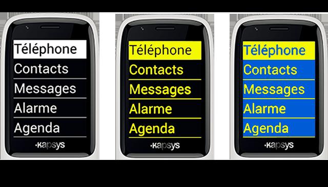 Téléphone malvoyant - Kapsys Minivision - écran - Bazile Telecom